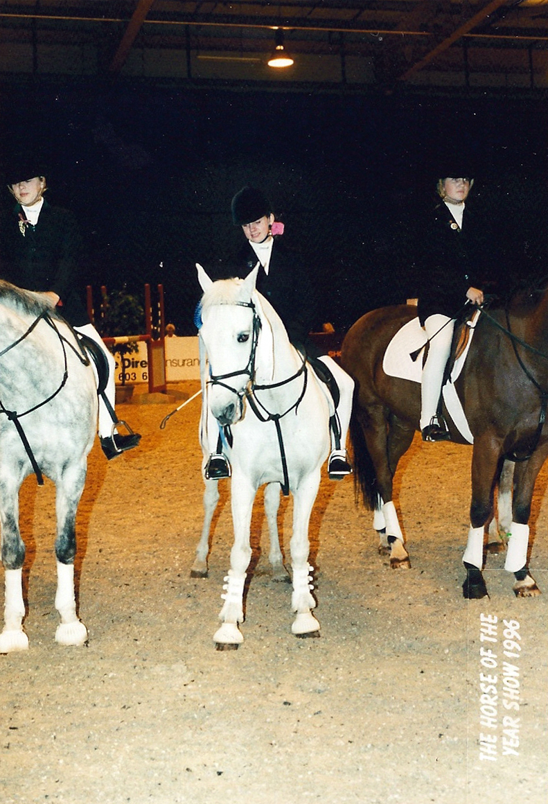 Lucky Strider and Hannah Goodby at HOYS Wembley 1996