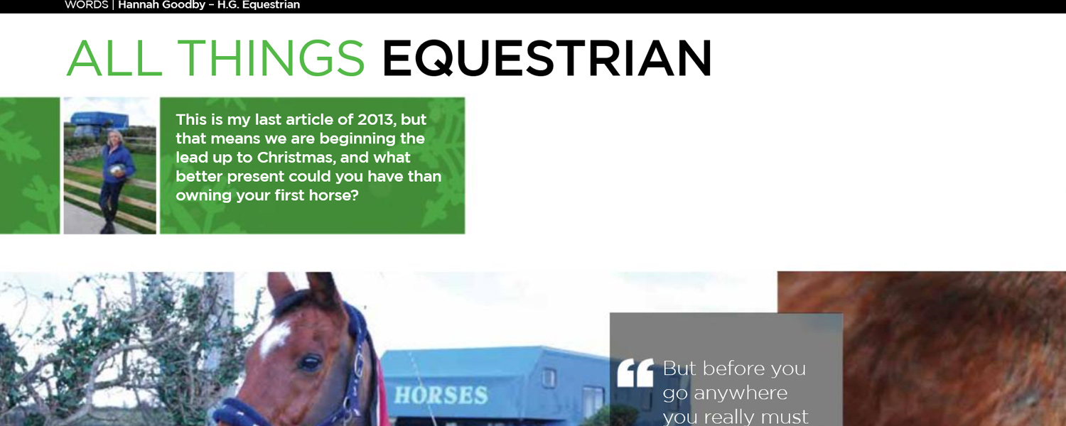 HG Equestrian - Gallery IoM Magazine Article Banner December 2013
