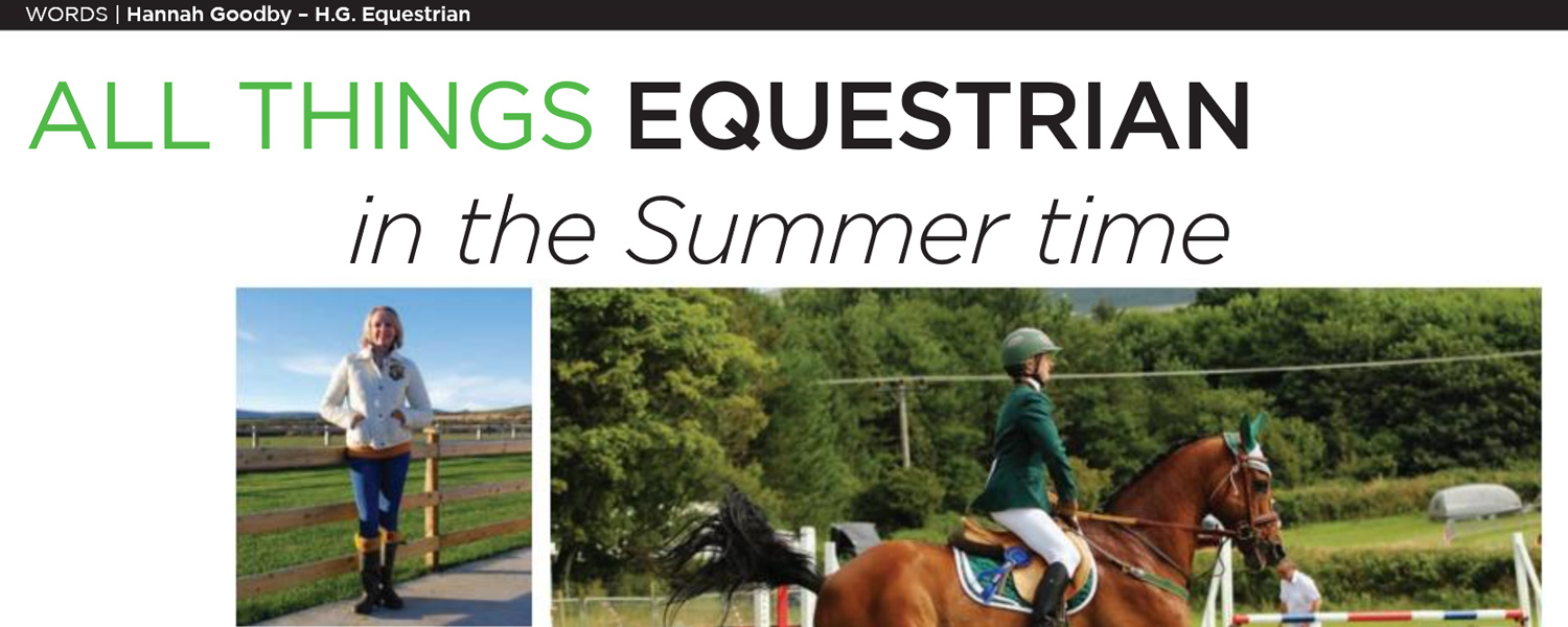HG Equestrian - Gallery IoM Magazine Article Banner June 2014