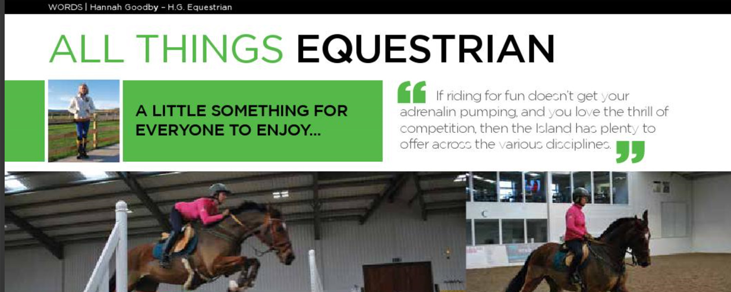 HG Equestrian - Gallery IoM Magazine Article Banner May 2014