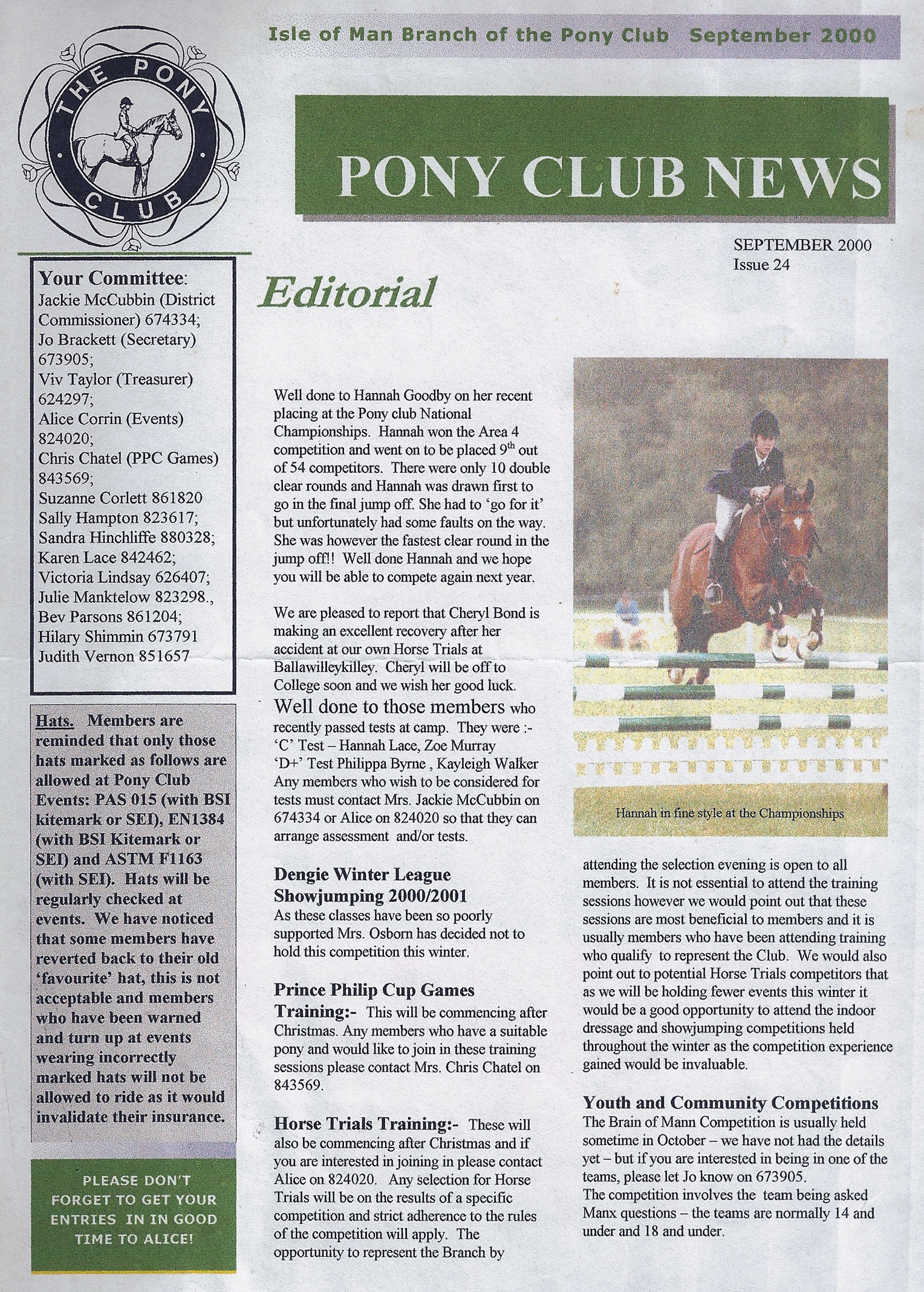 IoM Pony Club News Issue 24 2000