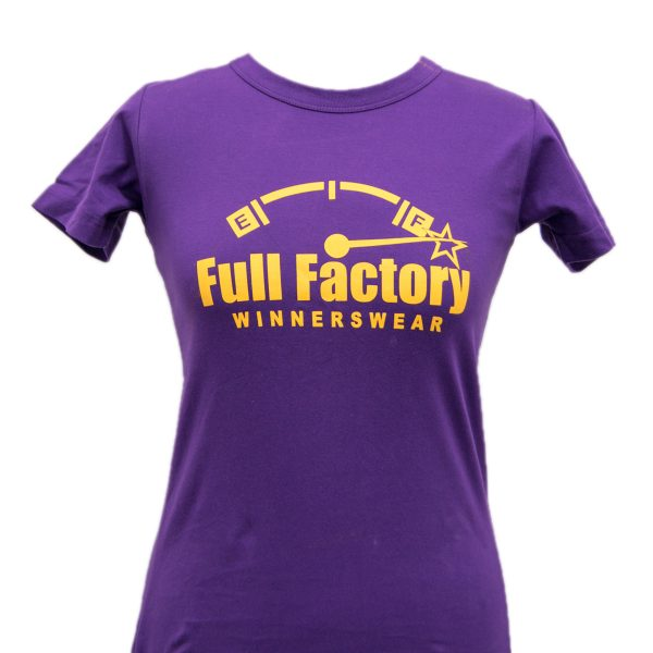 Ladies Full Factory Purple & Yellow T-Shirt Image