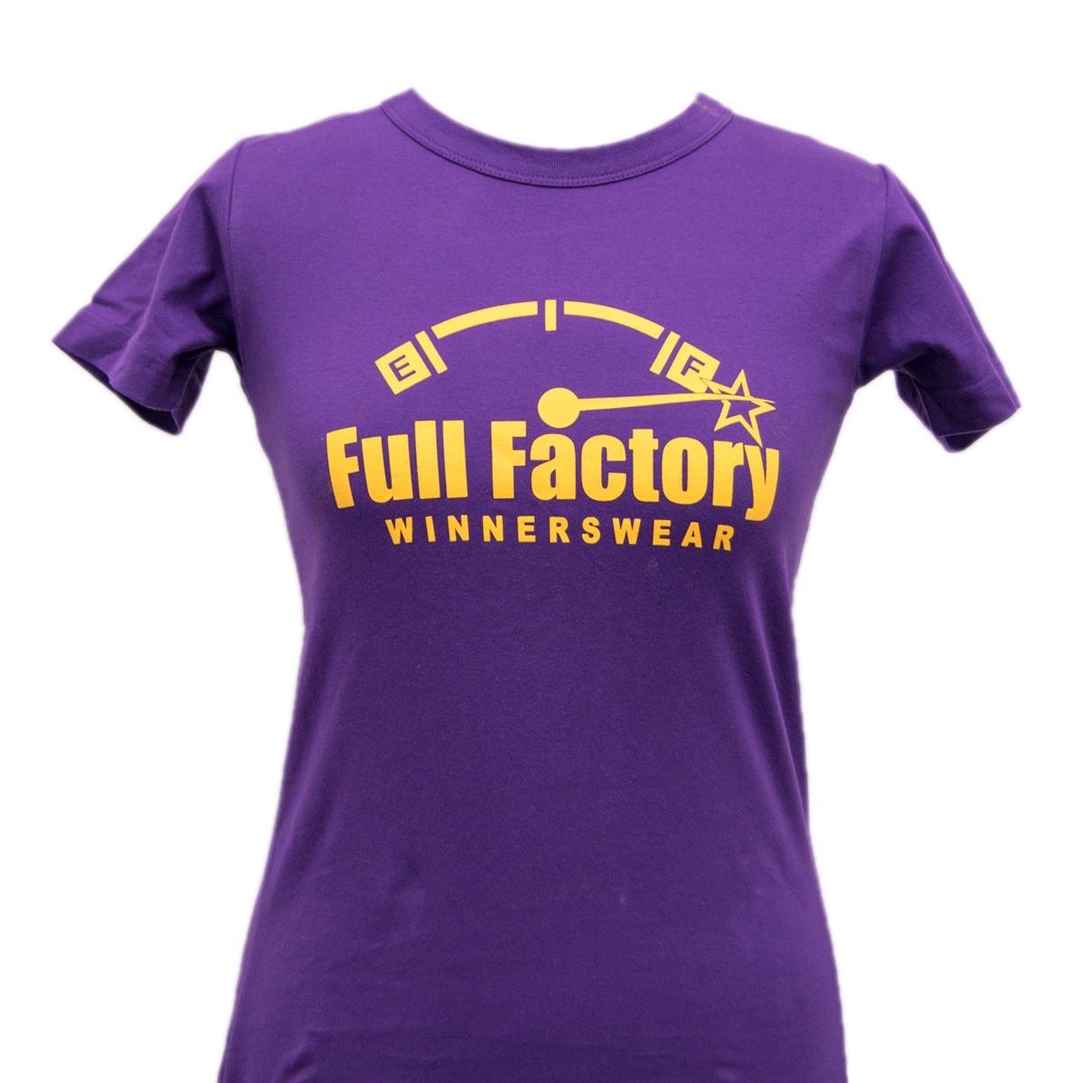 Ladies Full Factory Purple & Yellow T-Shirt Image