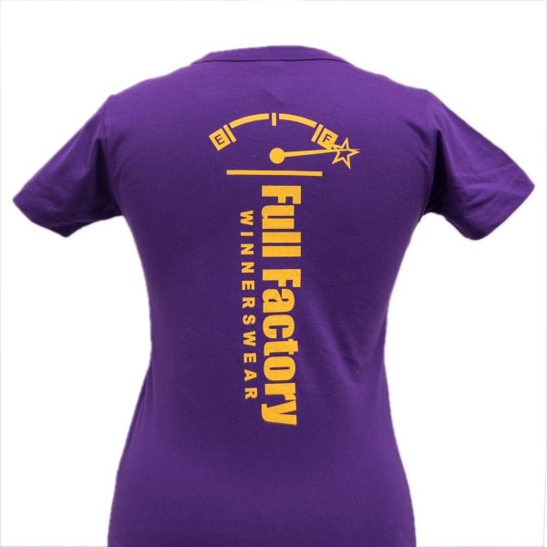 Ladies Full Factory Purple & Yellow T-Shirt Image (Back)