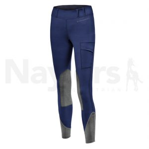 Ladies Noble Balance Riding Tights Navy Image