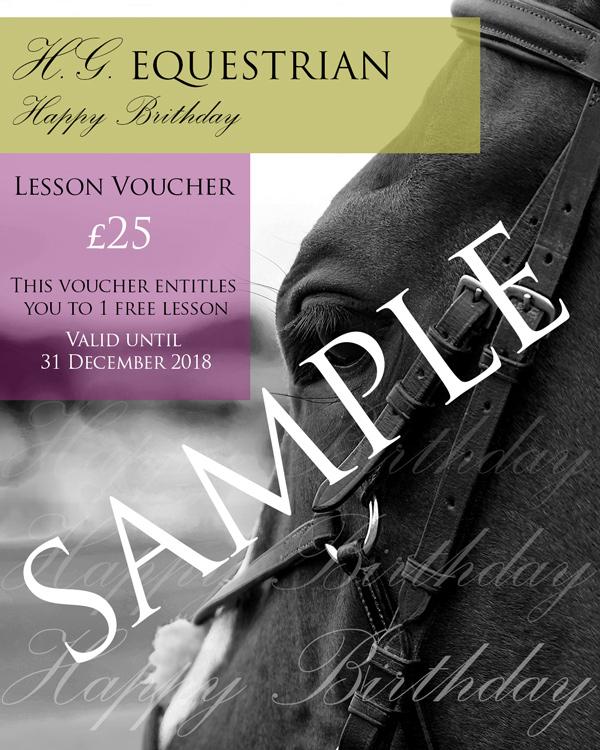 HG Equestrian Birthday Voucher