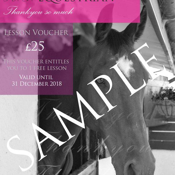 HG Equestrian Thankyou Voucher